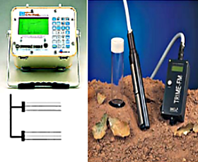 Example of equipments for measuring the volumetric water content